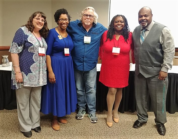 Members of the 2018-2019 Speakers Bureau with Invisible People founder Mark Horvath